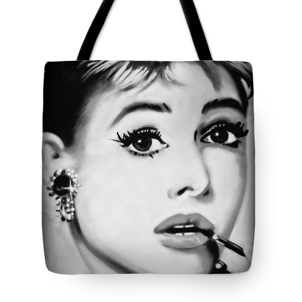 Audrey Hepburn Mural  Tote Bag