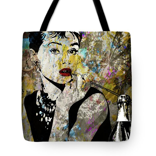 Audrey Hepburn Tribute  Tote Bag by Angela Holmes