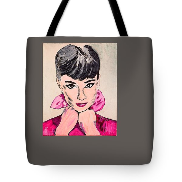 Audrey Hepburn Tote Bag by Valerie Ornstein