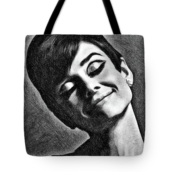 Audrey Hepburn, Vintage Actress By Js Tote Bag
