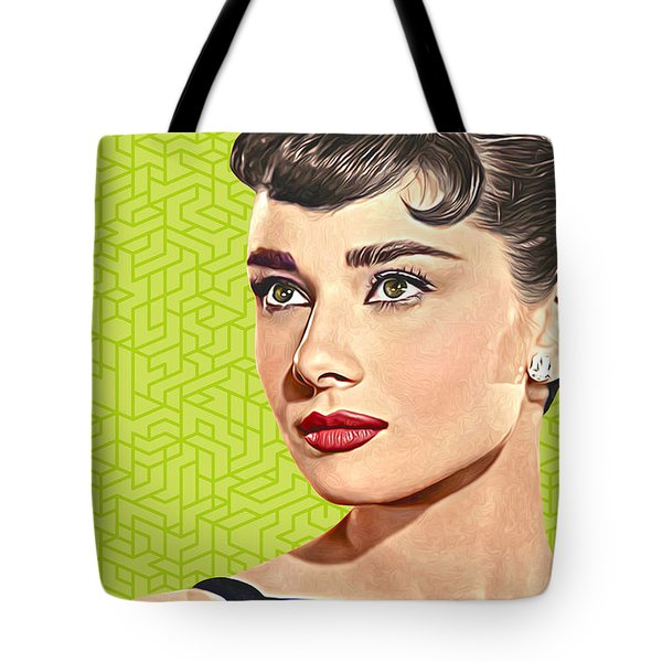 Audrey Hepburn_popart06-3 Tote Bag by Bobbi Freelance