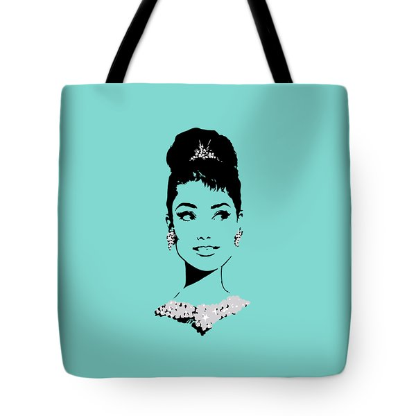 Audrey In Tiffany Blue Tote Bag