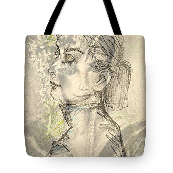 Audrey Two -- Portrait Of Audrey Hepburn Tote Bag