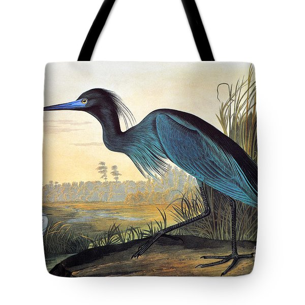 Audubon: Little Blue Heron Tote Bag