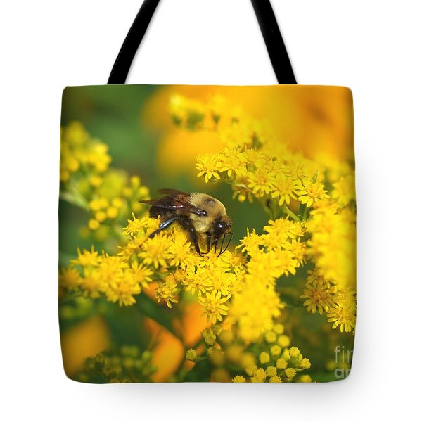 Tote Bag featuring the photograph August Bee by Susan  Dimitrakopoulos