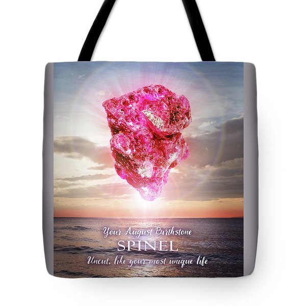 August Birthstone Spinel Tote Bag