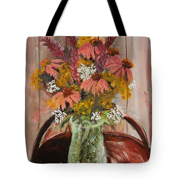 August Flowers Tote Bag