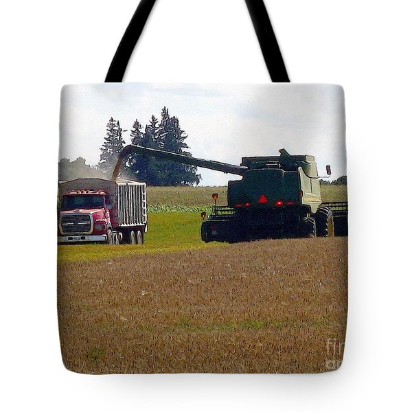 August Harvest Tote Bag by J McCombie
