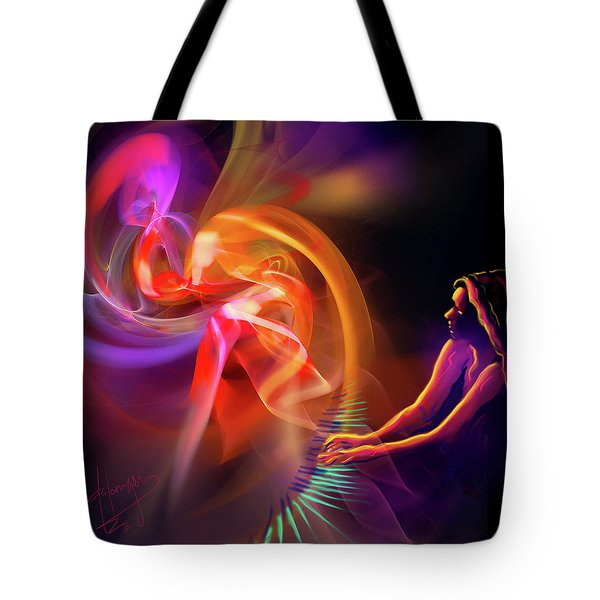 August Moon Tote Bag by DC Langer