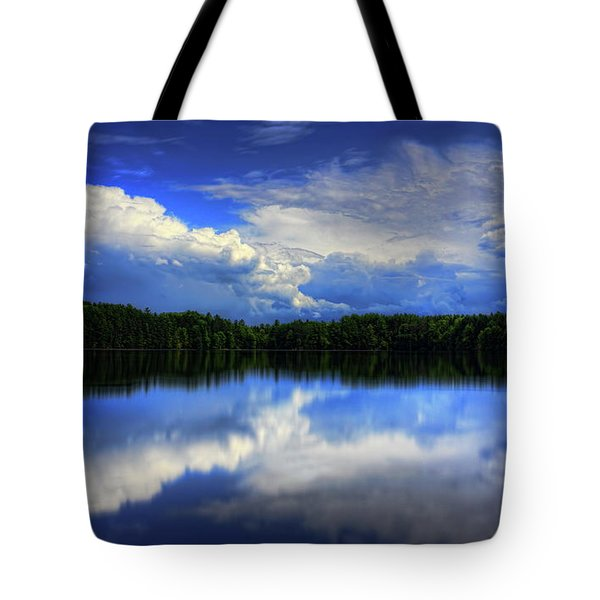 Tote Bag featuring the photograph August Summertime On Buck Lake by Dale Kauzlaric