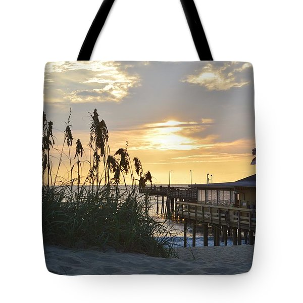 August Sunrise On The Obx  Tote Bag