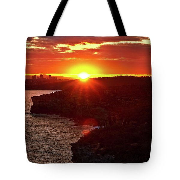 August Sunset From North Head Tote Bag