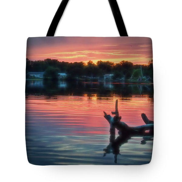 August Sunset Glow Tote Bag