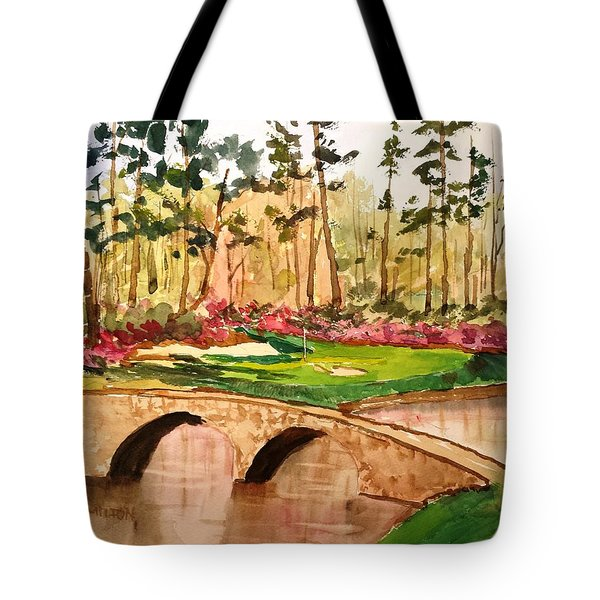 Augusta - 12th Hole Tote Bag