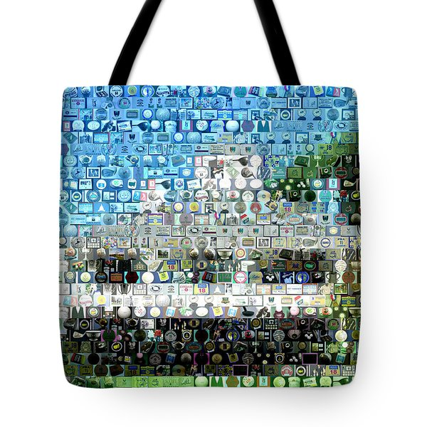 Augusta National Clubhouse Mosaic Tote Bag by Paul Van Scott