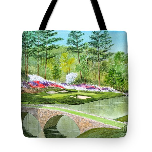 Augusta National Golf Course 12th Hole Tote Bag