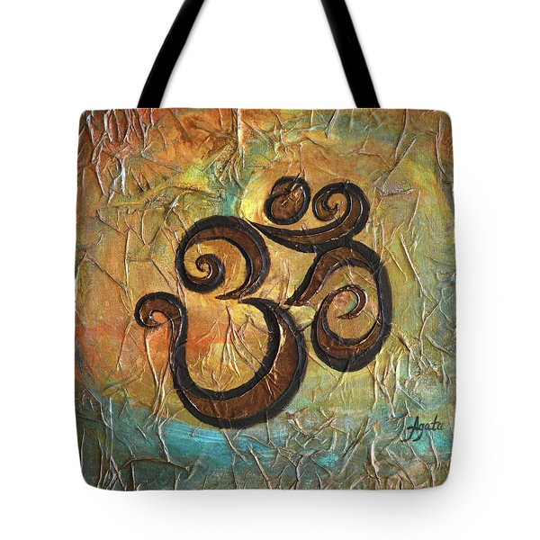 Tote Bag featuring the painting Aum by Agata Lindquist