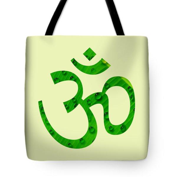 Aum Symbol Digital Painting Tote Bag by Georgeta Blanaru