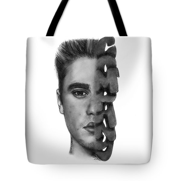 Justin Bieber Drawing By Sofia Furniel Tote Bag