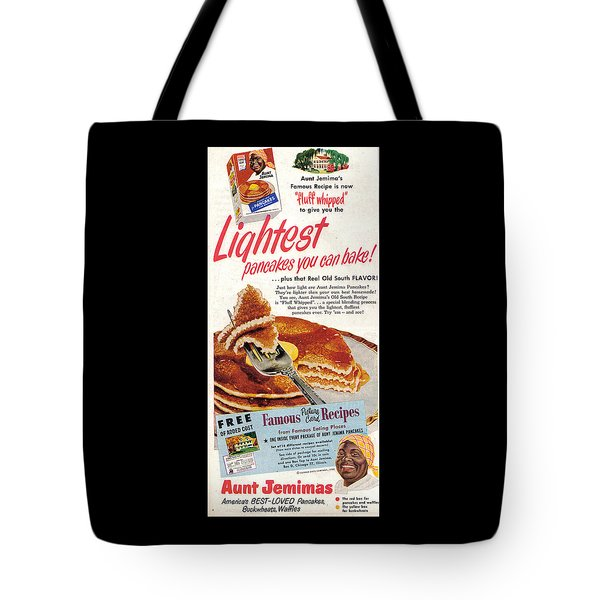 Tote Bag featuring the digital art Aunt Jemima Pancakes by ReInVintaged