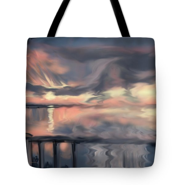 Tote Bag featuring the painting Aunt Jo by Jean Pacheco Ravinski