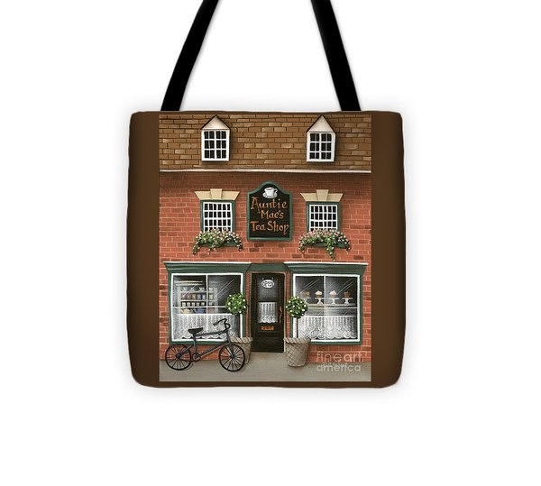 Auntie Mae's Tea Shop Tote Bag by Catherine Holman