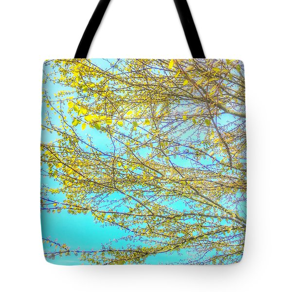 Tote Bag featuring the photograph  Aura Of Springtime by Connie Handscomb