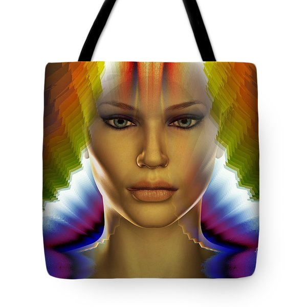 Tote Bag featuring the digital art Aura by Shadowlea Is