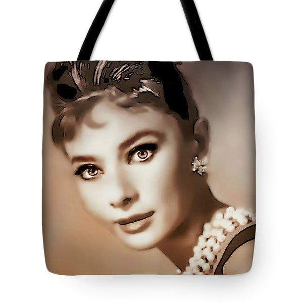 Aurdrey Hepburn - Famous Actress Tote Bag