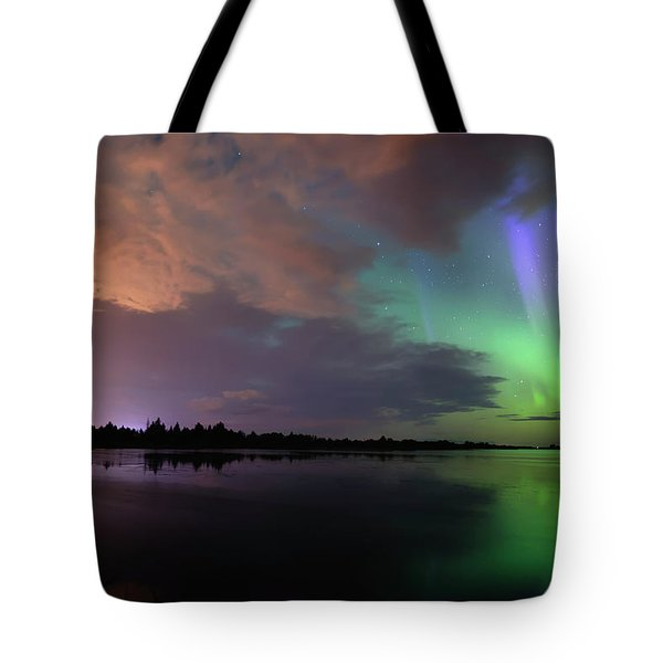 Aurora And Storm Clouds Tote Bag