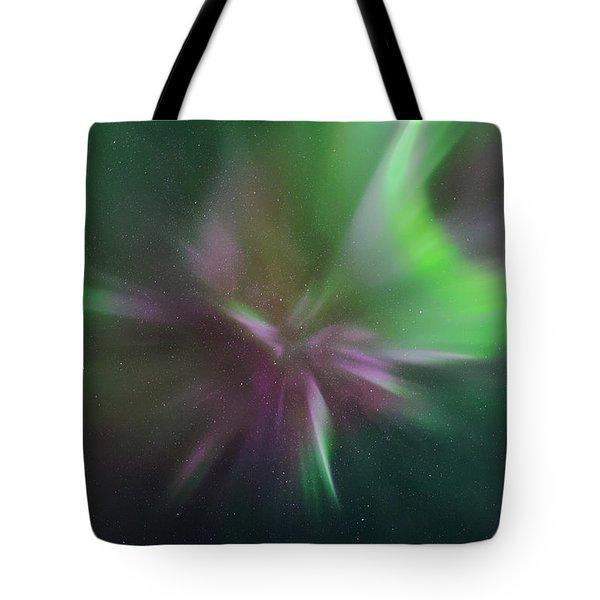 Aurora Borealis Corona Tote Bag