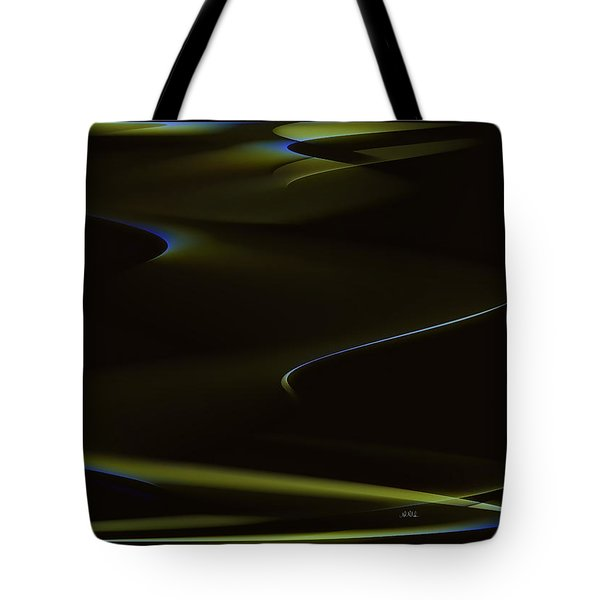 Aurora Borealis Over The Sand Dunes Tote Bag by Angela A Stanton