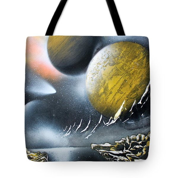 Tote Bag featuring the painting Aurora by Greg Moores