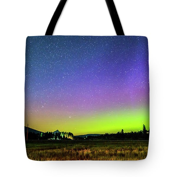 Tote Bag featuring the photograph Aurora In Sisters by Cat Connor