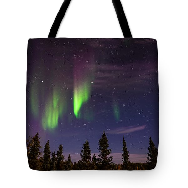 Tote Bag featuring the photograph Aurora Nights by Serge Skiba