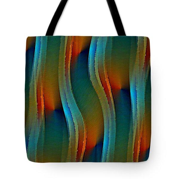 Tote Bag featuring the digital art Aurora Oil by David Manlove