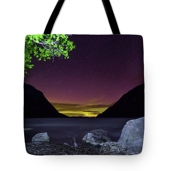 Aurora Over Lake Willoughby Tote Bag