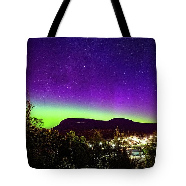 Aurora Over Mt Wellington, Hobart Tote Bag by Odille Esmonde-Morgan