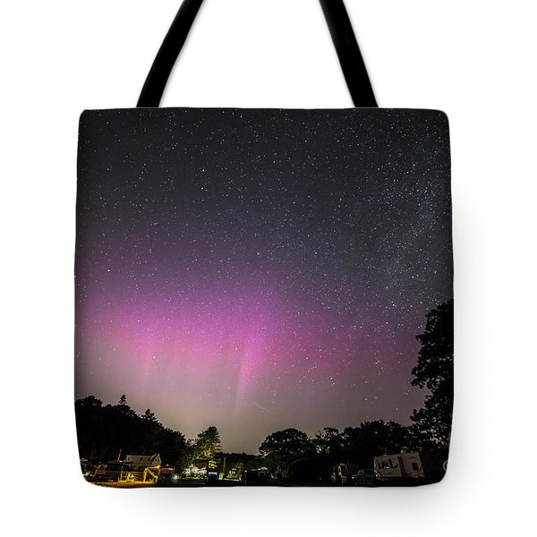Aurora Over Sagadahoc Bay Campground Tote Bag