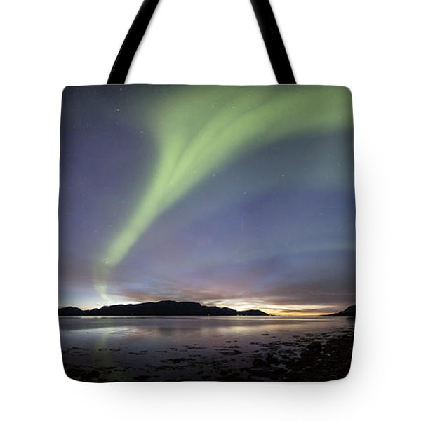 Aurora Polaris Panoramic Tote Bag
