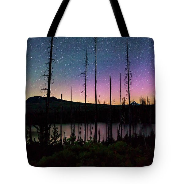 Tote Bag featuring the photograph Aurora Reflections by Cat Connor