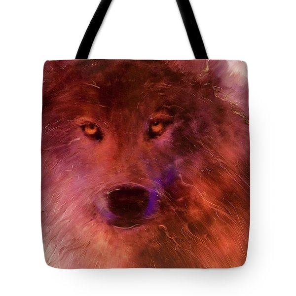 Tote Bag featuring the painting Aurora Rising by FeatherStone Studio Julie A Miller