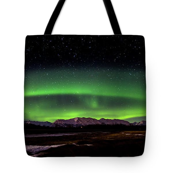 Tote Bag featuring the photograph Aurora Spiral by Bryan Carter