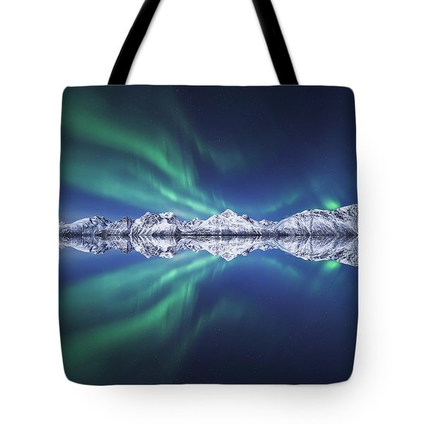 Aurora Square Tote Bag by Tor-Ivar Naess