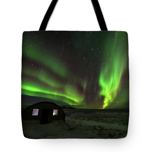 Tote Bag featuring the photograph Aurora Storm by Allen Biedrzycki