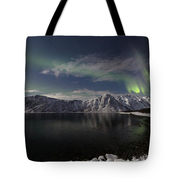 Auroras Over The Bay Tote Bag