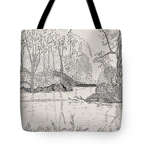Ausable River At Rock Glen Tote Bag