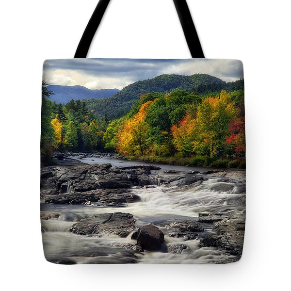 Tote Bag featuring the photograph Ausable River Jay Ny by Mark Papke