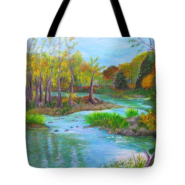 Ausable River Tote Bag
