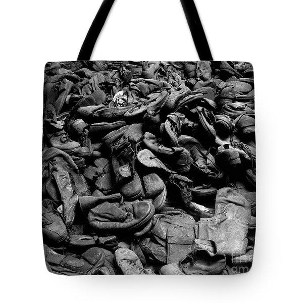 Auschwitz-birkenau Shoes Tote Bag